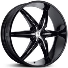Helo 866 Black Custom Wheels Rims 22