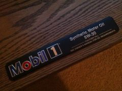 GM Underhood MOBIL 1 Emblem Badge