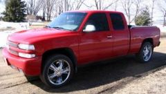Red on 22's