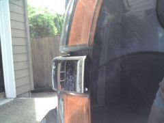 Side view of chrome instead of painted center piece and how