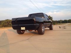 Shaved tail gate and roll pan