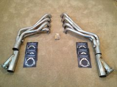 Texas Speed Long Tube headers and QTP cut-outs